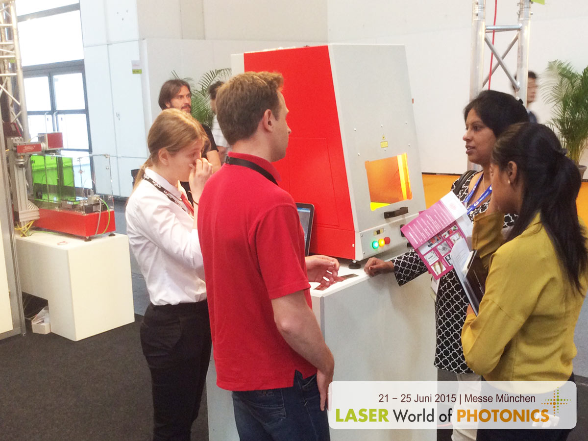 LASER World of PHOTONICS 2015. Laser marking system MiniMarker. Laser engraving machine.