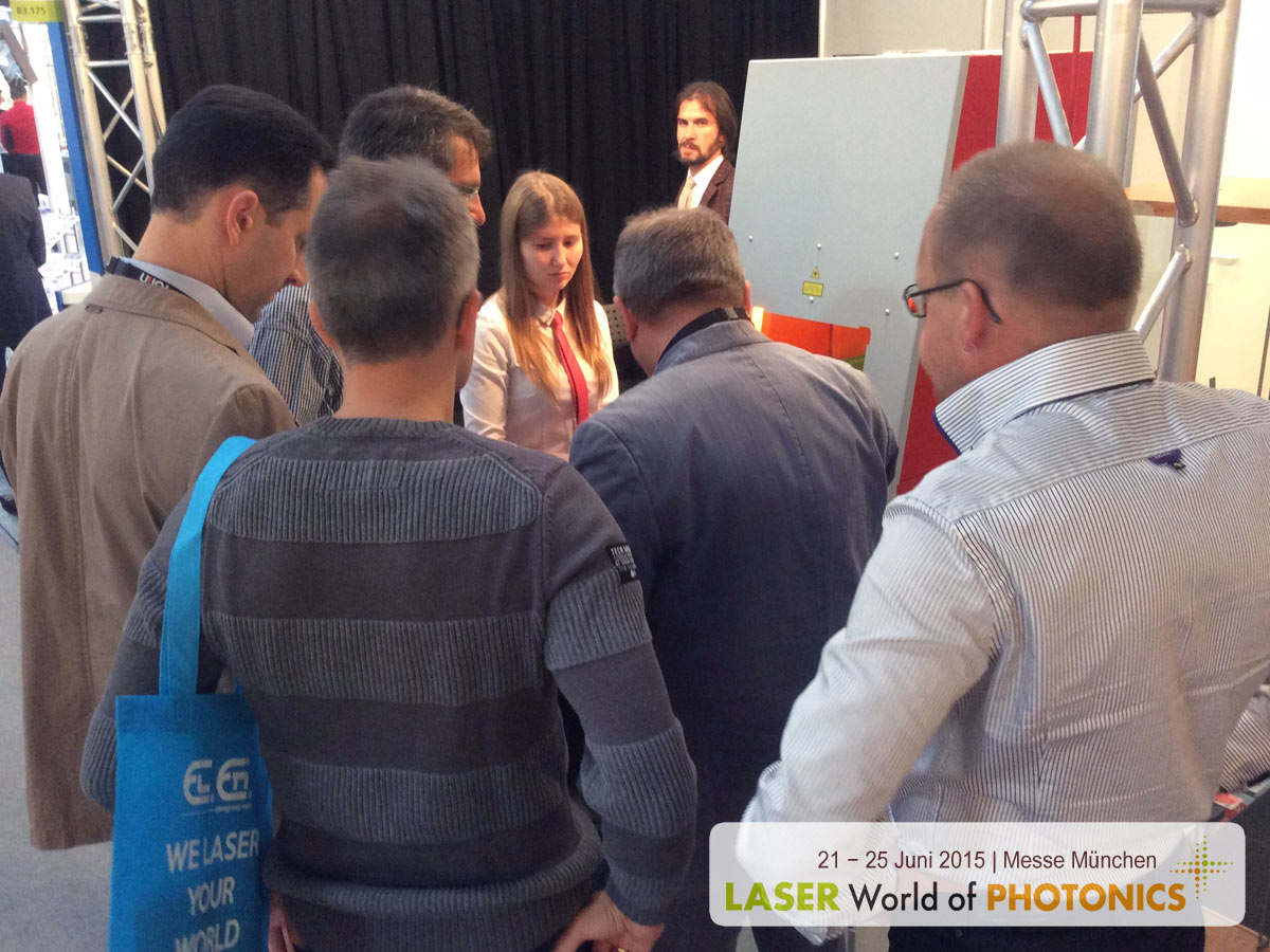 LASER World of PHOTONICS 2015. Laser marking system TurboMarker. Laser engraving machine.